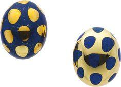 Estate Jewelry:Earrings, Lapis Lazuli, Gold Earrings, Tiffany & Co. The... Image #1