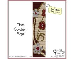 Loom Pattern: The Golden Age - cuff bracelet - INSTANT DOWNLOAD pdf - Multibuy savings with coupon codes - bl44