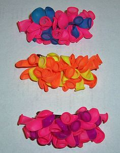 Balloon hair barrettes!