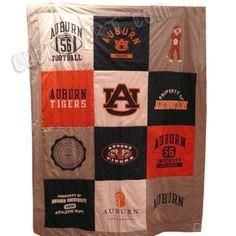 Auburn Tiger Vintage Tee Soft Blanket