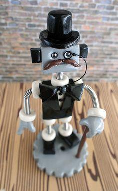 Commission: Monsieur Moles Robot Sculpture theawesomerobots.com