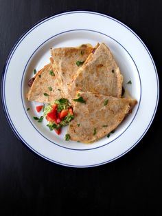 Pumpkin & Black Bean Quesadillas with Caramelized Onions | Living Healthy in Seattle