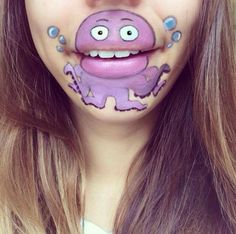 Makeup Artist Laura Jenkinson Turns Her Lips Into Cute Cartoon Characters |   Hairstyles 2015 – Trendy Haircuts and Hair Colors