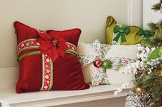 City Sidewalks: Ribbon Wrapped Pillows