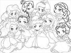Coloriage Bebe Princesse Disney Colorier Les Enfants