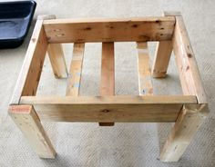 Our kids love water and sensory play, so we created this simple and very sturdy diy water table for less than $15. #play #diy