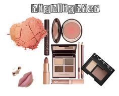 """#Highlighter"" by anayeli-sosa ❤ liked on Polyvore featuring beauty, Charlotte Tilbury and NARS Cosmetics"