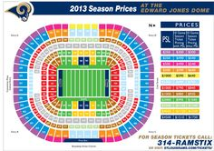 St Louis Rams Seating Chart