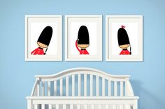 Nursery Art Toy Soldiers Nursery Print English Guards by HopAndPop