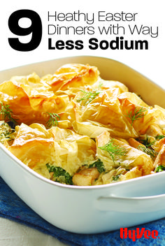 You've got options! Check out our favorite Easter recipes that are on the healthier side, including this Chicken Spanakopita Casserole. Seafood Recipes, Beef Recipes, Cooking Recipes, Recipies, Ham Dinner, Easter Dinner, Easter Recipes, Holiday Recipes, Dinner Recipes