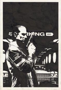 Splash Page Comic Art :: For Sale Artwork :: Punisher Max by artist Tim Bradstreet