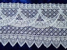 Gorgeous Victorian Antique Lace Piece 79x5 Swags Fancy Beautiful! www.Vintageblessings.com