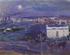Harbour at Sevastopol, 1916, Konstantin Korovin