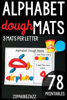 These fun no prep printable alphabet play dough mats are great for learning letter recognition, numb Free Preschool Games, Subitizing Activities, Preschool Letters, Learning Letters, Kindergarten Math Activities, Work Activities, Kindergarten Teachers, Math Coach, Letter Identification