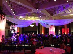 Wedding reception decorations and lighting