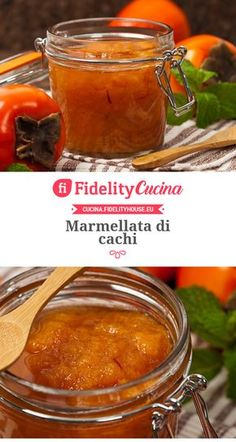 Marmellata di cachi Ricotta, Wine Recipes, Cooking Recipes, Kakis, Beautiful Fruits, Romanian Food, Diy Food, Soul Food, Italian Recipes
