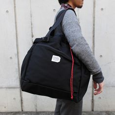 *STROLL TOTE(M)* BLACK X RED - 自転車 バッグの専門店 FREDRIK PACKERS