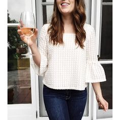 2 of my favorite things: rosé and a fluttery sleeve @liketoknow.it http://liketk.it/2oqbc #liketkit
