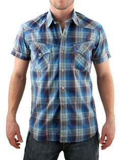 Duck and Cover Azure Blue Darwin Shirt Duck and Cover Darwin Shirt - Mens short sleeve shirt from Duck and Cover - Western check pattern - Fitted style with two chest pockets - Branding on pocket - Product Code: DCDARWINAB - Material: http://www.comparestoreprices.co.uk/mens-clothes/duck-and-cover-azure-blue-darwin-shirt.asp