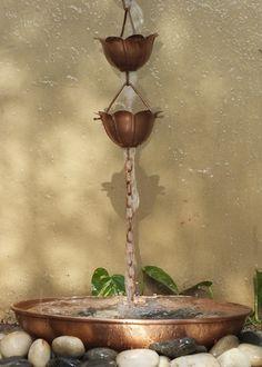 Copper Lotus Rain Chain