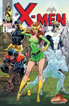 The original X-Men by J Scott Campbell.