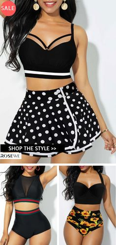 Cheap black Swimwear online for sale Summer Swimwear, Bikini Swimwear, Sexy Bikini, Swimsuits, Swimwear Fashion, Bikini Fashion, Summer Wear, Casual Summer, Cool Outfits