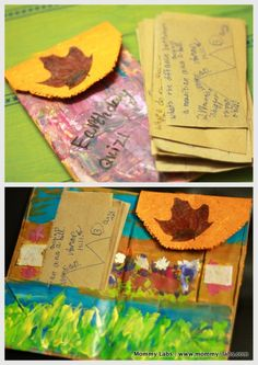 'Earth Awareness' Kid-made Quiz. And, a Gorgeous Recycled Art Journal Folder