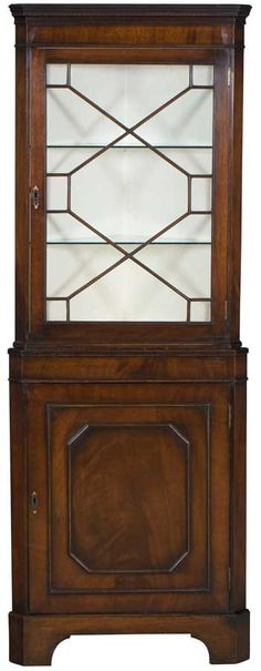 Antique Corner Cabinet in Mahogany Wood by EnglishClassics on Etsy