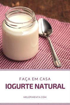 """Iogurte caseiro é tão simples de preparar que não faz sentido comprar o produto industrializado, eu não gosto da maioria dos iogurtes que existem no mercado, acho que quase todos tem um sabor artificial, principalmente os que levam """"morango"""", pois..."""