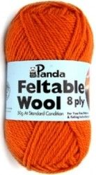 Ever wanted to try felting? Panda Feltable Wool 8 ply has been specifically designed for felting. Of course the yarn can also be used for knitting and crochet!  The yarn is 100% pure new wool and is warm hand wash only when non-felted. The perfect all-rounder, suitable for most knitting and felting projects.  Perfect for all your craft requirements where wool needs to be wet felted.