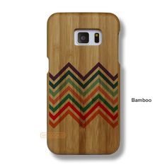 Chevron Galaxy S7 Case - Galaxy S7 Solid Total Wood Case - SYTRE0013