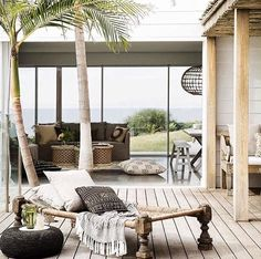 Afro tropical outdoor deck design