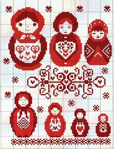 cross stitch chart matryoshka