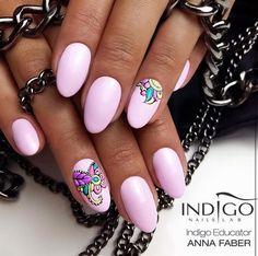Discoteca Kiss Gel Polish by Indigo Educator Anna Faber, Gliwice #nails #nail #pinknails #indigo #indigonails #pink #pastel #pastelnails #summernails #thinkpink #springnails #nailsart