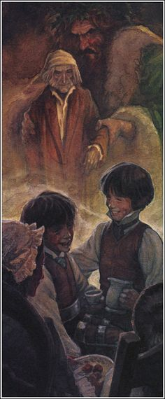 A Christmas Carol Charles Dickens (1843) Illustrator P. J. Lynch ~ The Ghost of Christmas Past takes Scrooge to revisit his childhood.