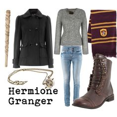 """Hermione Granger"" by doctorwhodressing on Polyvore"