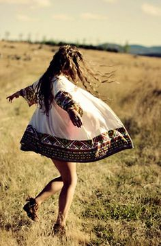 thebohogarden: Arnhem Clothing #bohemian #boho #fashion #girl #hair #field #grass
