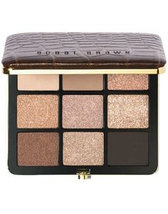 So pretty: Bobbi Brown eye shadow palette. Great mix of browns for a warm glow.