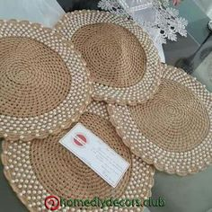 natural jute twine rope cord non polished gift wrap packaging eco friendly hemp yarn 100 g 55 – Artofit Crochet Art, Crochet Home, Crochet Doilies, Crochet Placemat Patterns, Hemp Yarn, Jute Crafts, Jute Twine, Drops Design, Handicraft