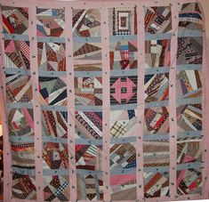 Quilts-Vintage and Antique: Contained Crazy Quilt