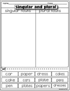 math worksheet : 1000 ideas about plural nouns on pinterest  irregular plural  : Plural Worksheets For Kindergarten