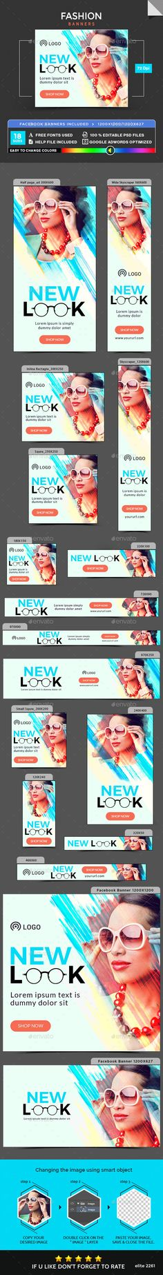 Fashion Banners Template PSD