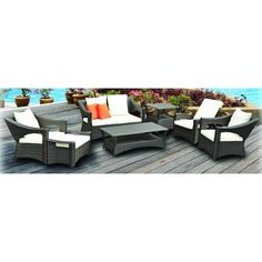7-Piece Reclining Outdoor Patio Furniture Set