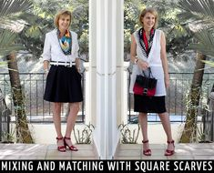 2 relaxed modern ways to wear scarves