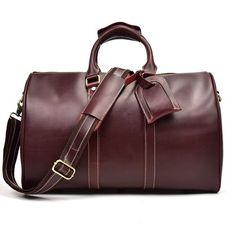 b2a575292c78 Best Genuine Handmade Leather Duffle Bag for Travel