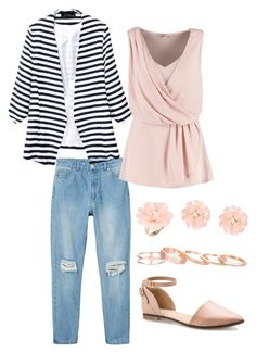 """""""Springy Classy School Day"""" by midori394 on Polyvore"""