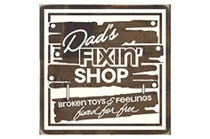 Sign  Dads Fixin Shop -- Click image for more details.