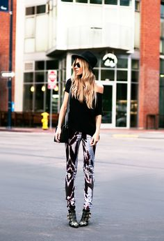 31f47302 Printed pants adds instant edgy fashion to any outfit! Amy Borecky · Yves  Saint Laurent ...