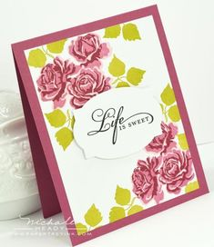Life Is Sweet Card by Nichole Heady for Papertrey Ink (July 2012)