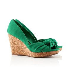 Just bought a pair of these green suede peep toe shoes. Because you can never have too many peep toe shoes, right?